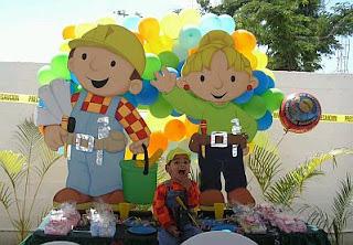 Fiestas Infantiles, Bob el constructor; Bob, Roley, Wendy
