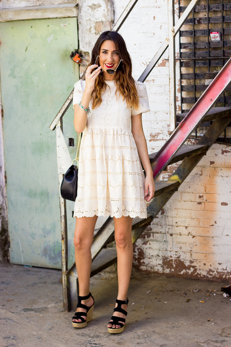 whitelace dress