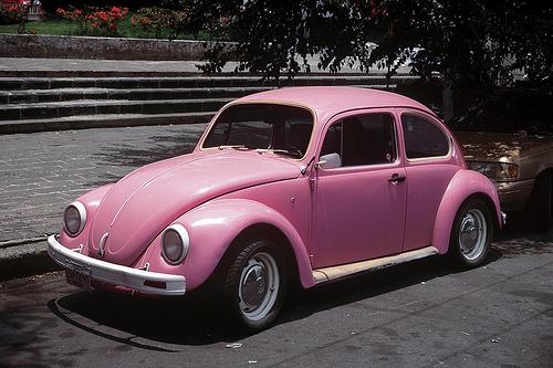 get it in pink everything pink pink volkswagen beetle cars. Black Bedroom Furniture Sets. Home Design Ideas