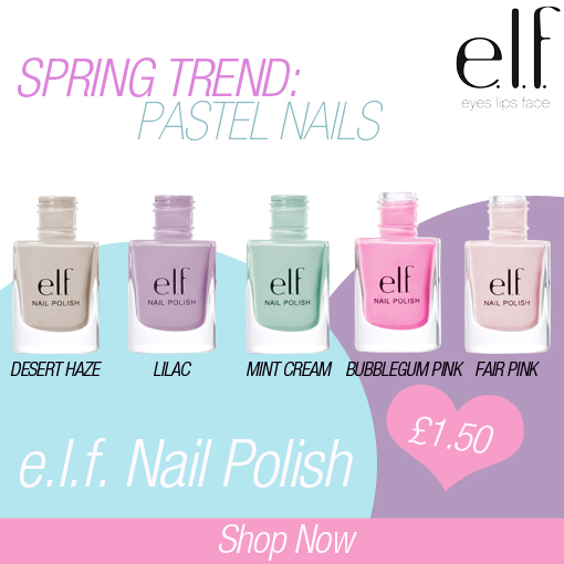 Me, My E.l.f. And I: Spring Trend: Pastel Nails