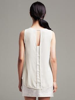 banana republic seamed inset tank