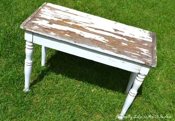 distressed white table. distressed white table