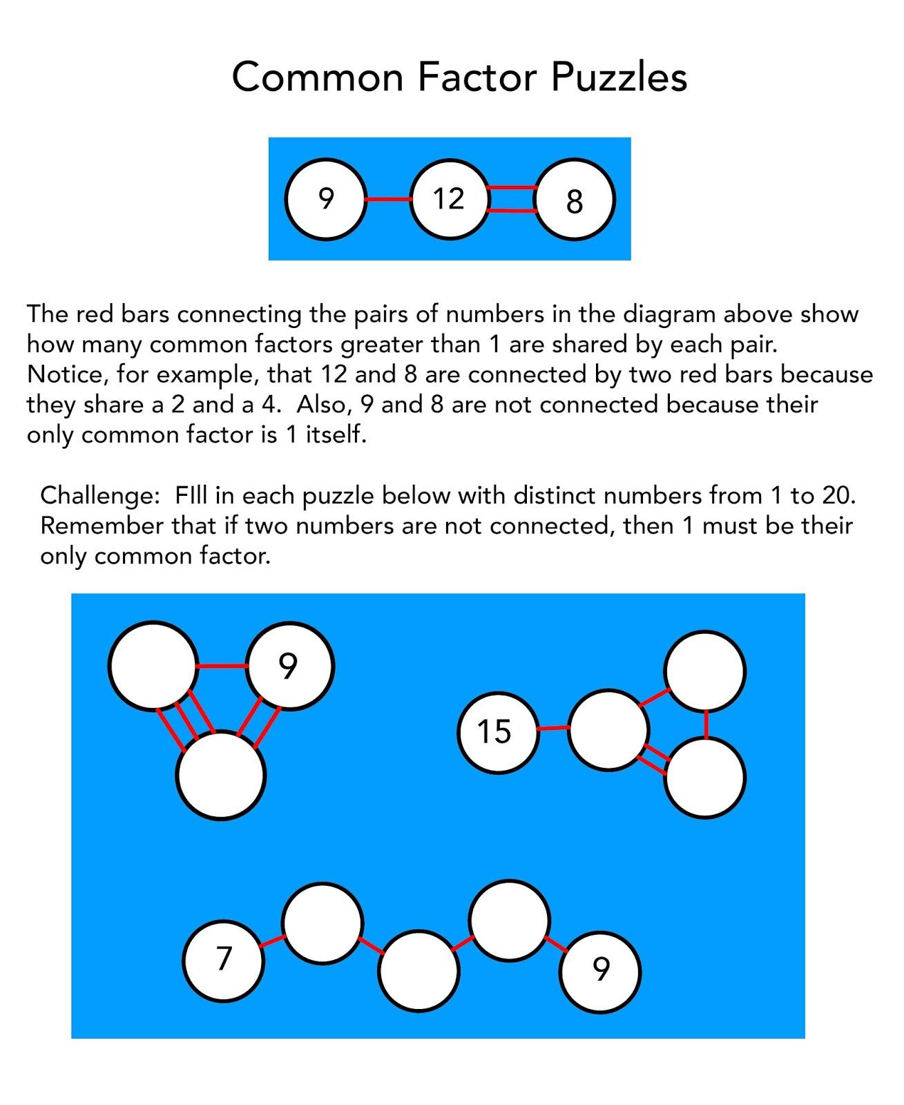1001 Math Problems: puzzles that explore factors/divisibility