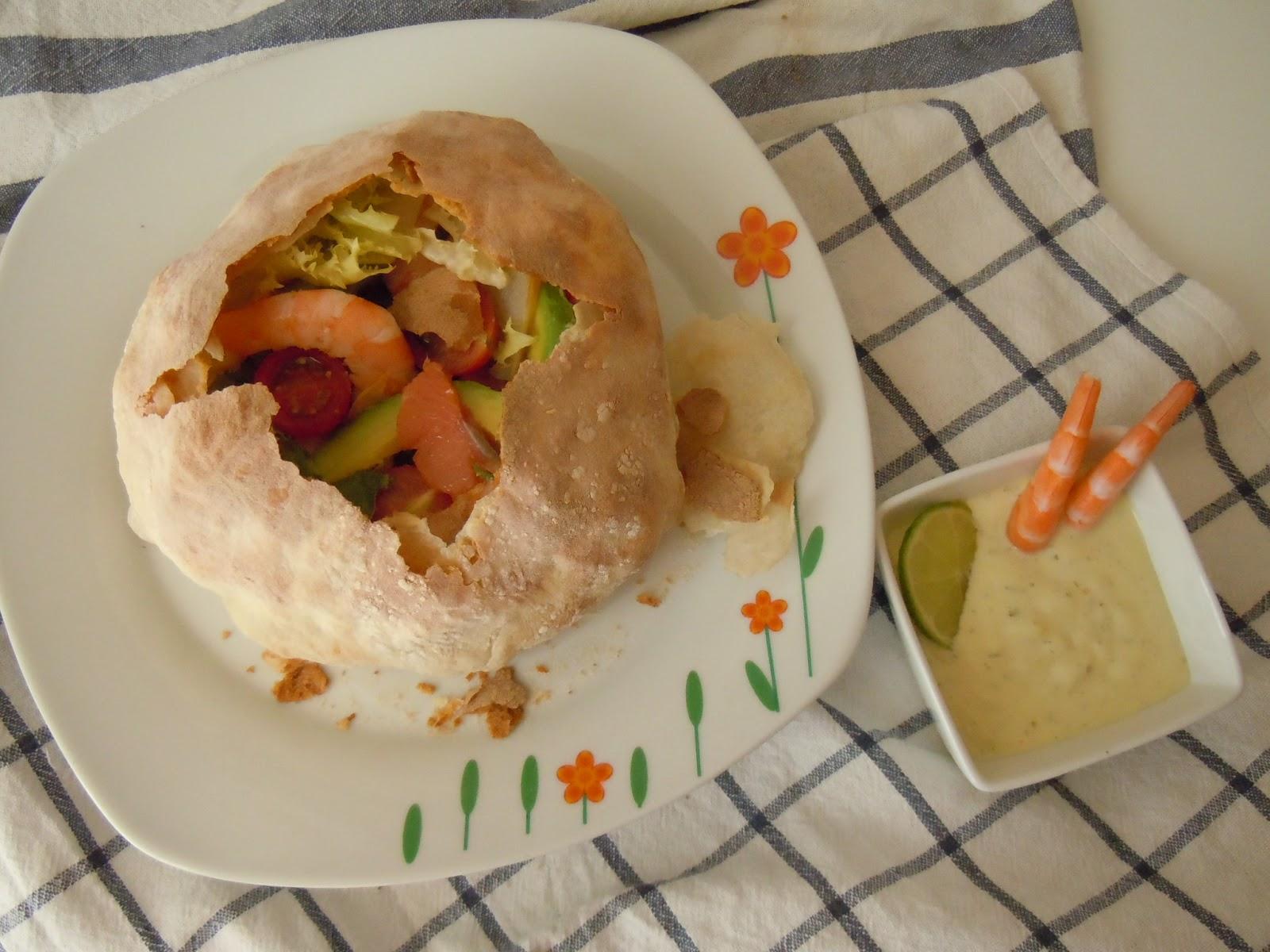 Pan Kinder con salsa vinagreta casera - Desafío en la cocina Especial verano