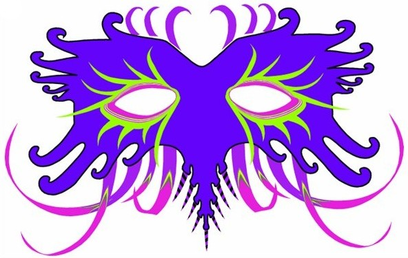 Printable Mardi Gras Mask Printable mardi gras masks