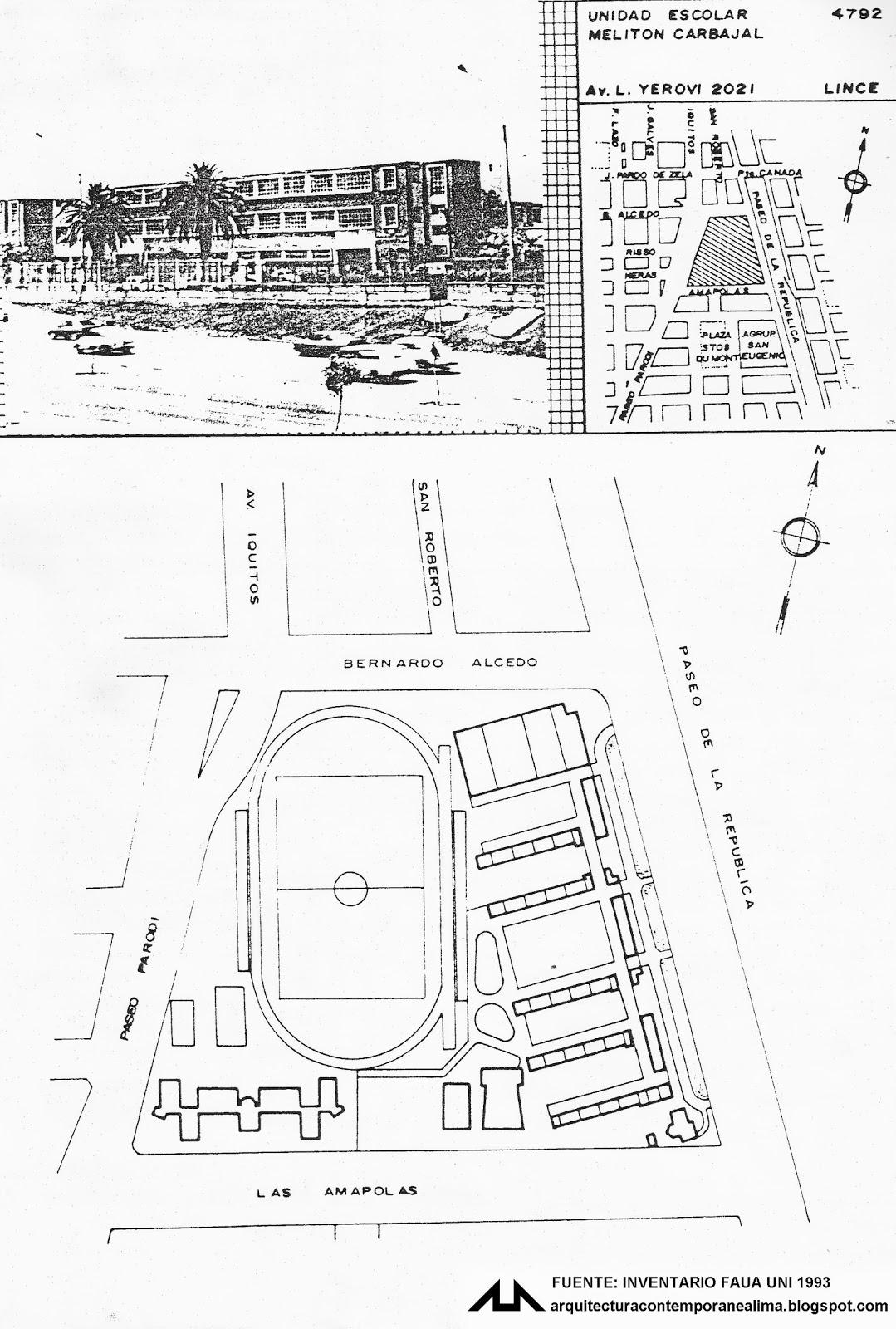 Arquitectura contemporanea de lima 4792 unidad escolar for Planos mobiliario escolar peru