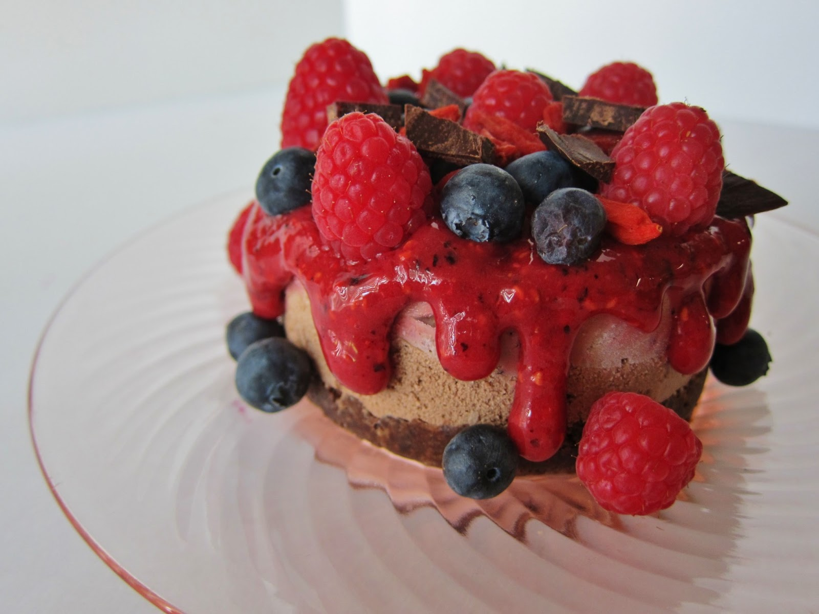 Lime Ice Cream Torte Topped With Berry Sorbets Recipes — Dishmaps