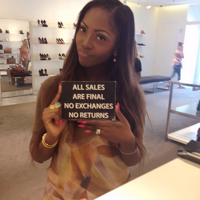 Tiwa Savage 'Warns' Her Hubby Not To Leave Their Marriage – Photo