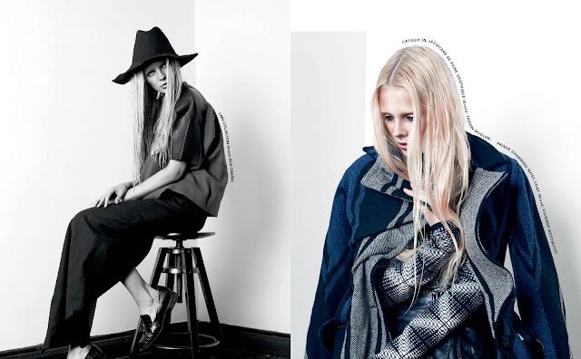 Nastya Pastukhova in Wool modern Campaign, Shanghai