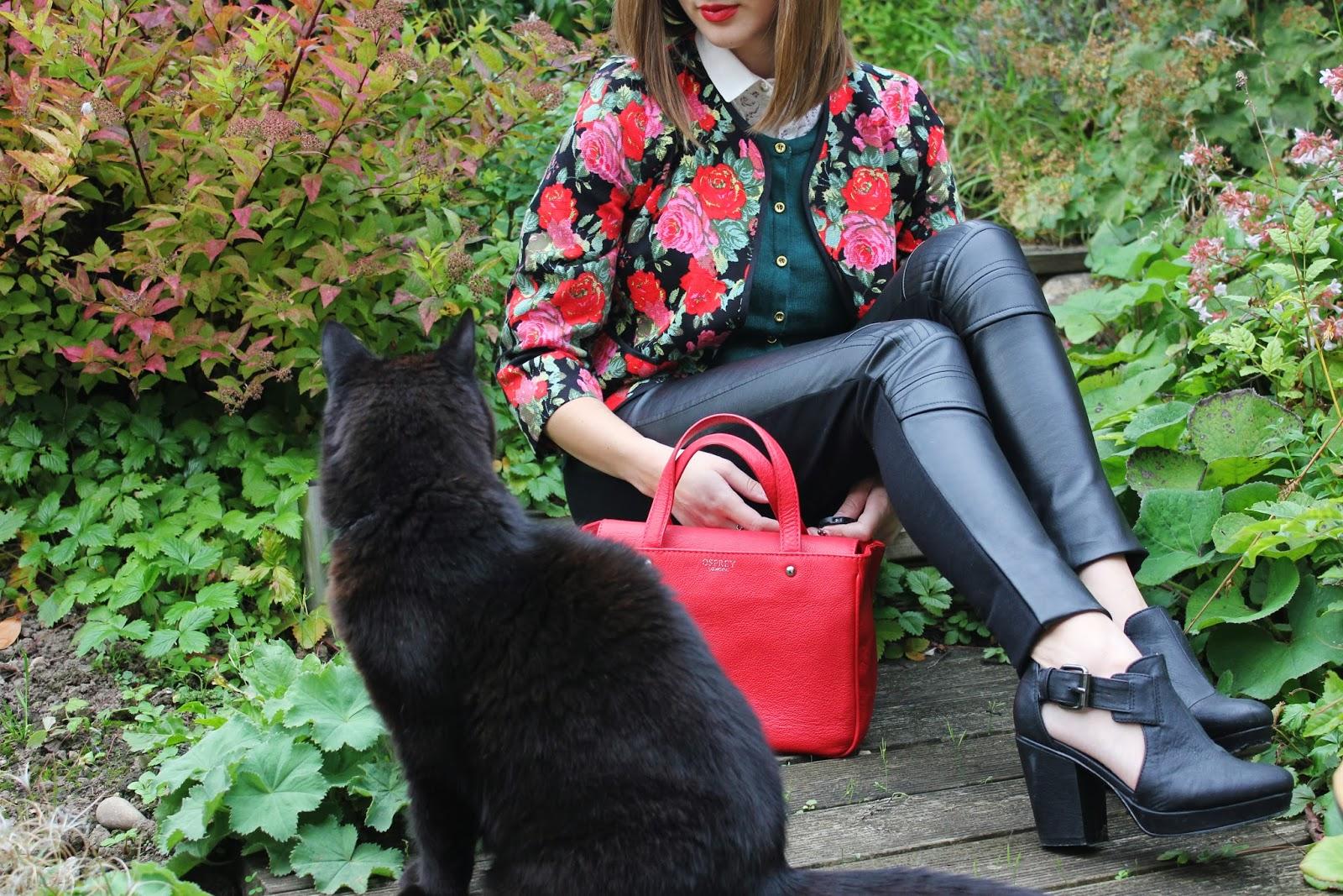 uk fashion blogger styles winter florals