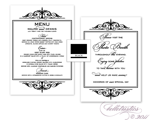 black white formal photo booth wedding stationery designs