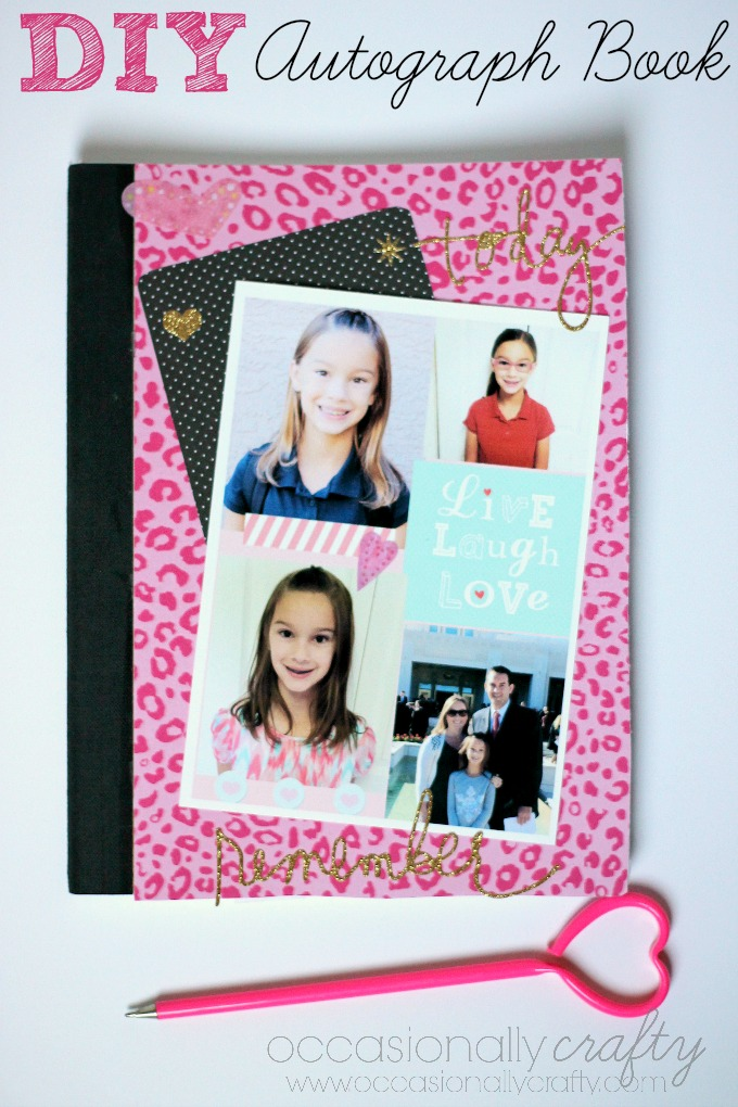 DIY Autograph Book instead of a Yearbook