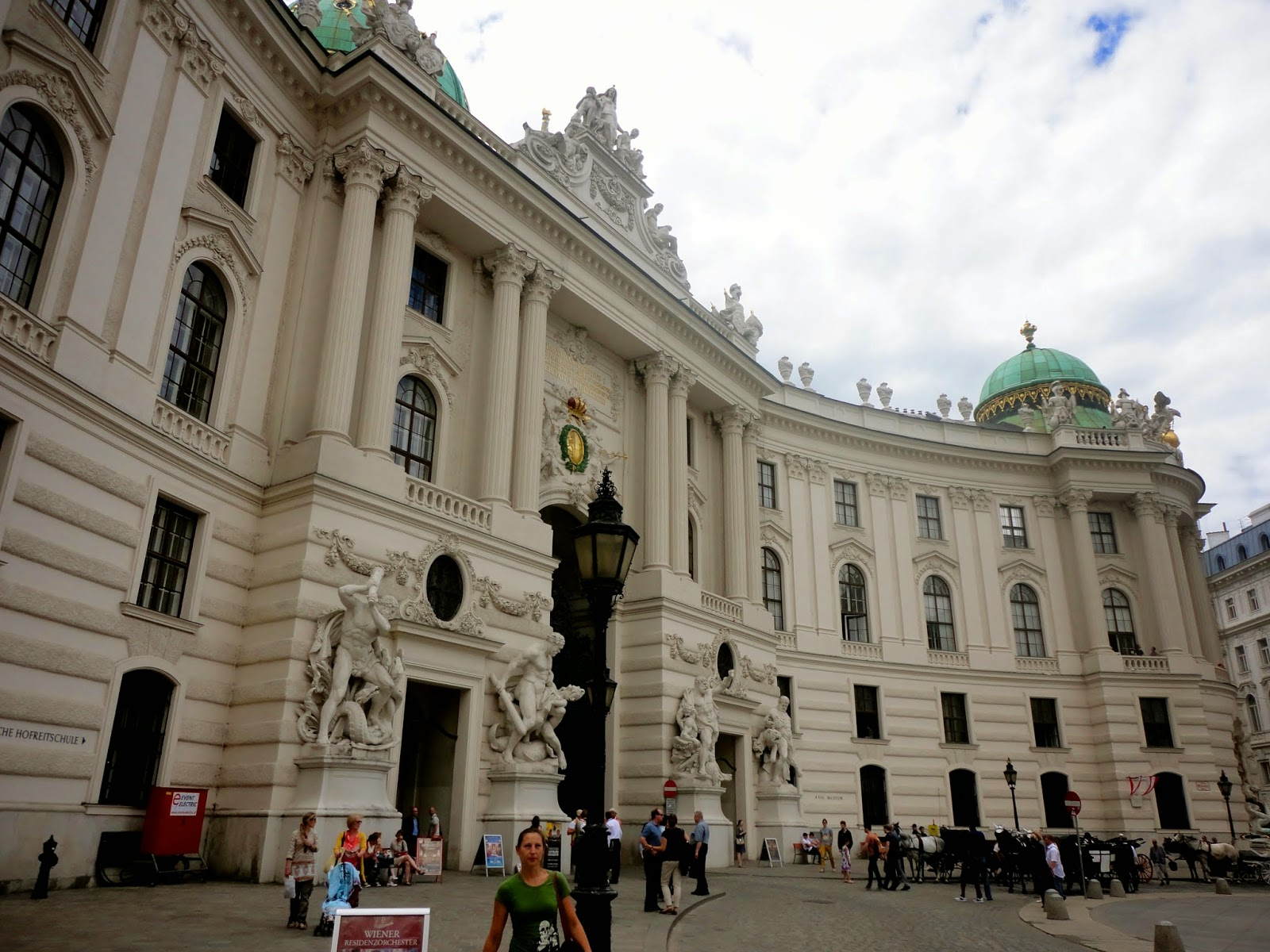 Palace building exterior in Vienna, Austria