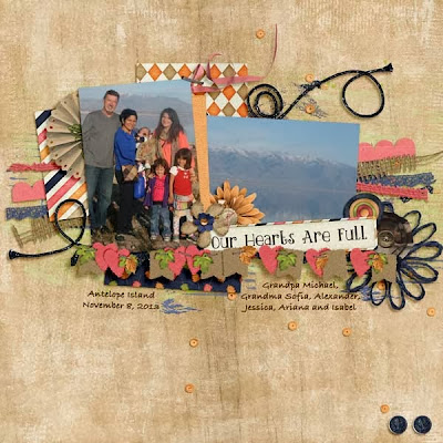 Just Us - November by Wendy Tunison Designs and a Freebie!