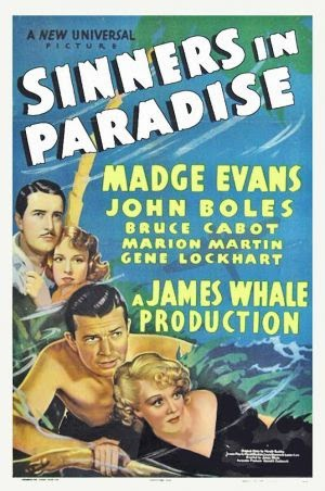 Sinners in Paradise Vintage 1938 film poster