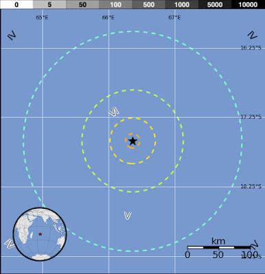 Terremoto de magnitud 6.7 se registró en MAURICIO - región de Reunión, el 26 de julio 2012