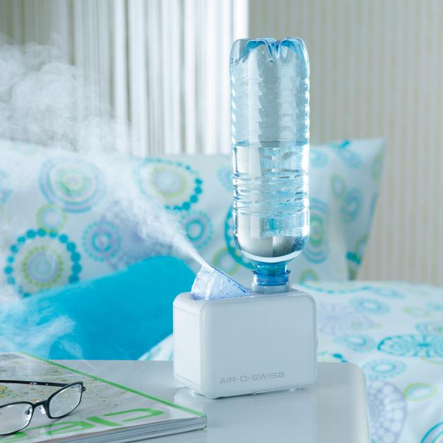 Umidificador de ar reutiliza garrafinha d'água