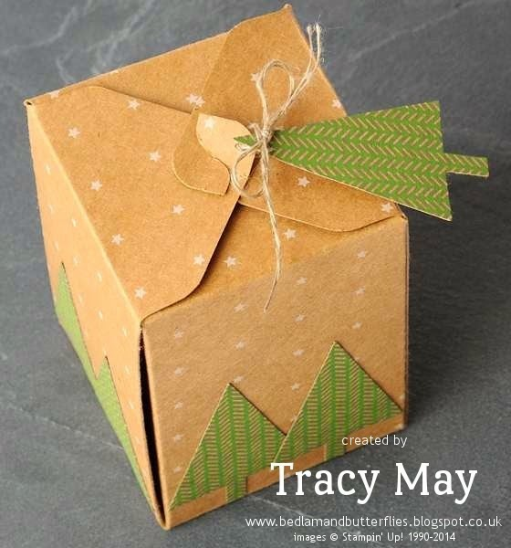 stampin up uk independent demonstrator Tracy May gift box punch board