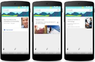 Update Terbaru Kemampuan Google Now yang Bertambah