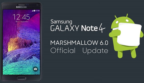 Samsung Galaxy Note 4 Android 6.0 Marshmallow