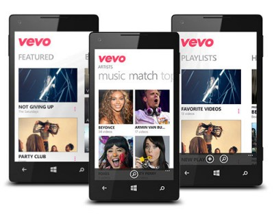 Aplikasi Vevo 'DiPensiunkan' Dari Windows Phone