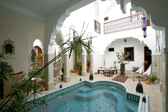 Tourisme du maroc riad piscine marrakech for Riad piscine privee marrakech