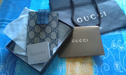 GucciiPhone/iPod touch case beige/blue GG plus fabric with blue leather .