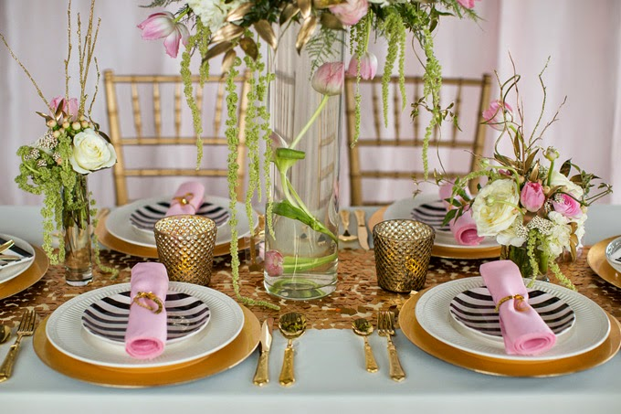 Glam Pink, Black and White Styled Shoot