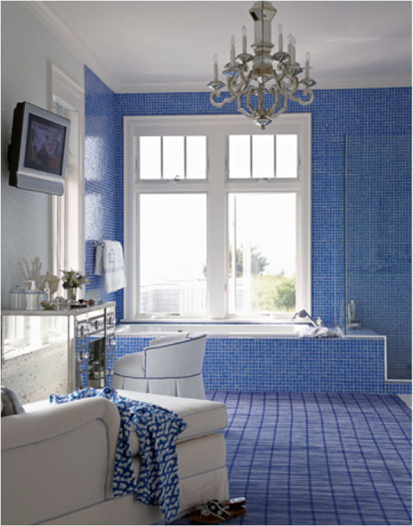 Alkemie blue rooms from house beautiful enter for a for House beautiful bathrooms