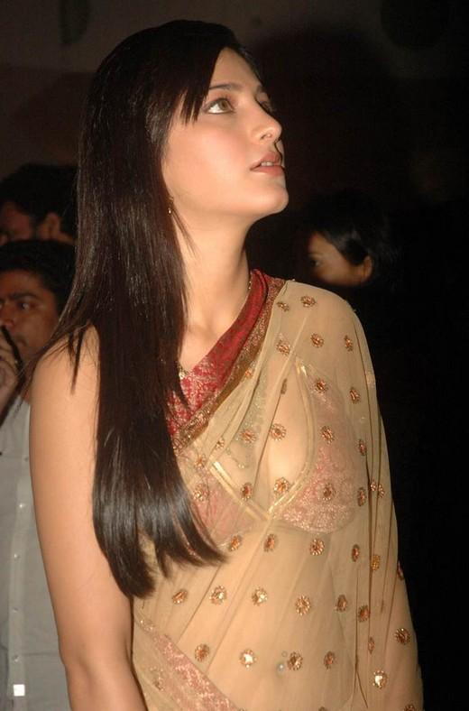 Shruti Hasan Transparent Saree