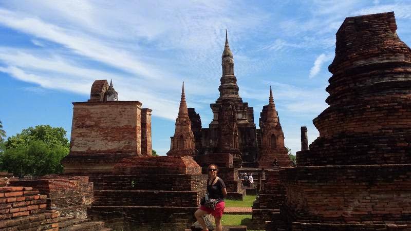 templo de Wat Mahathat, templos de Sukhothai, templos de Tailandia