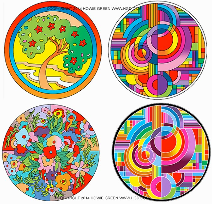 howie green daily paintings pop art deco circles by howie green. Black Bedroom Furniture Sets. Home Design Ideas