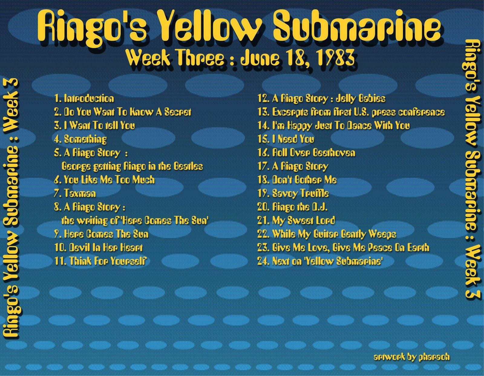 Beatles Radio Waves: 1983 06 18 Ringo's Yellow Submarine 03 #B79B14 1600 1242