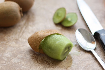 Kitchen Tip: How to Peel a Kiwi Fruit Using a Spoon recipe by Barefeet In The Kitchen