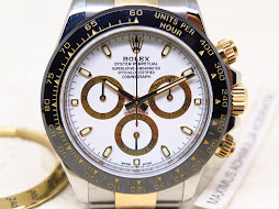 ROLEX DAYTONA COSMOGRAPH WHITE DIAL TWO TONE YELLOW GOLD - ROLEX 116523- SERIE V YEAR 2010-FULLSET