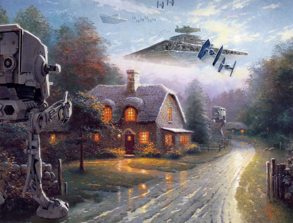 08-Jeff-Bennett-Thomas-Kinkade-Star-Wars-on-Kinkade-Paintings-www-designstack-co