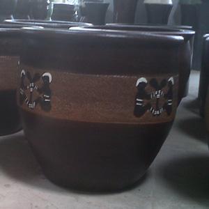 Pot corak Aborogin - Rp 60.000