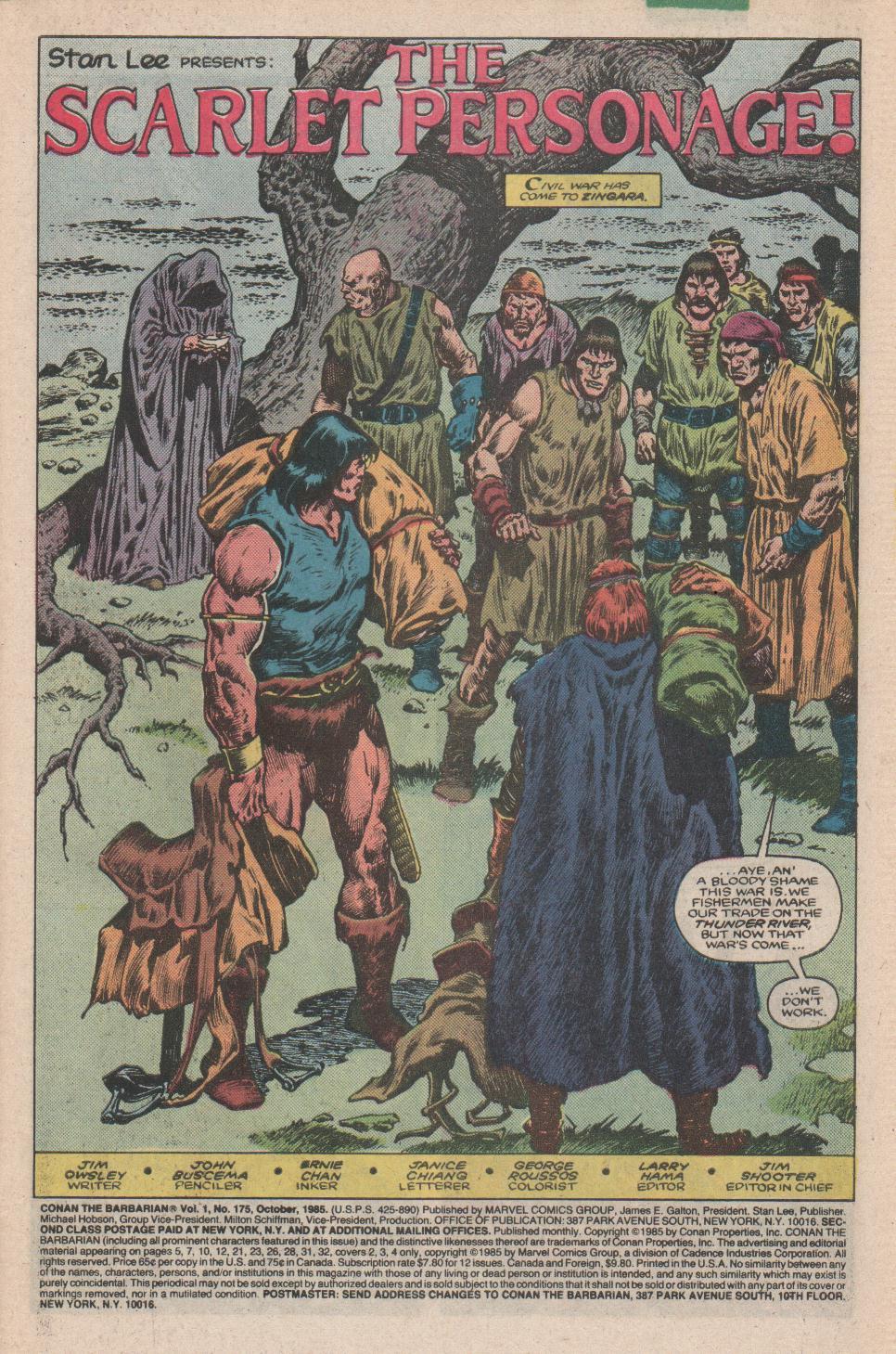 Conan the Barbarian (1970) Issue #175 #187 - English 2