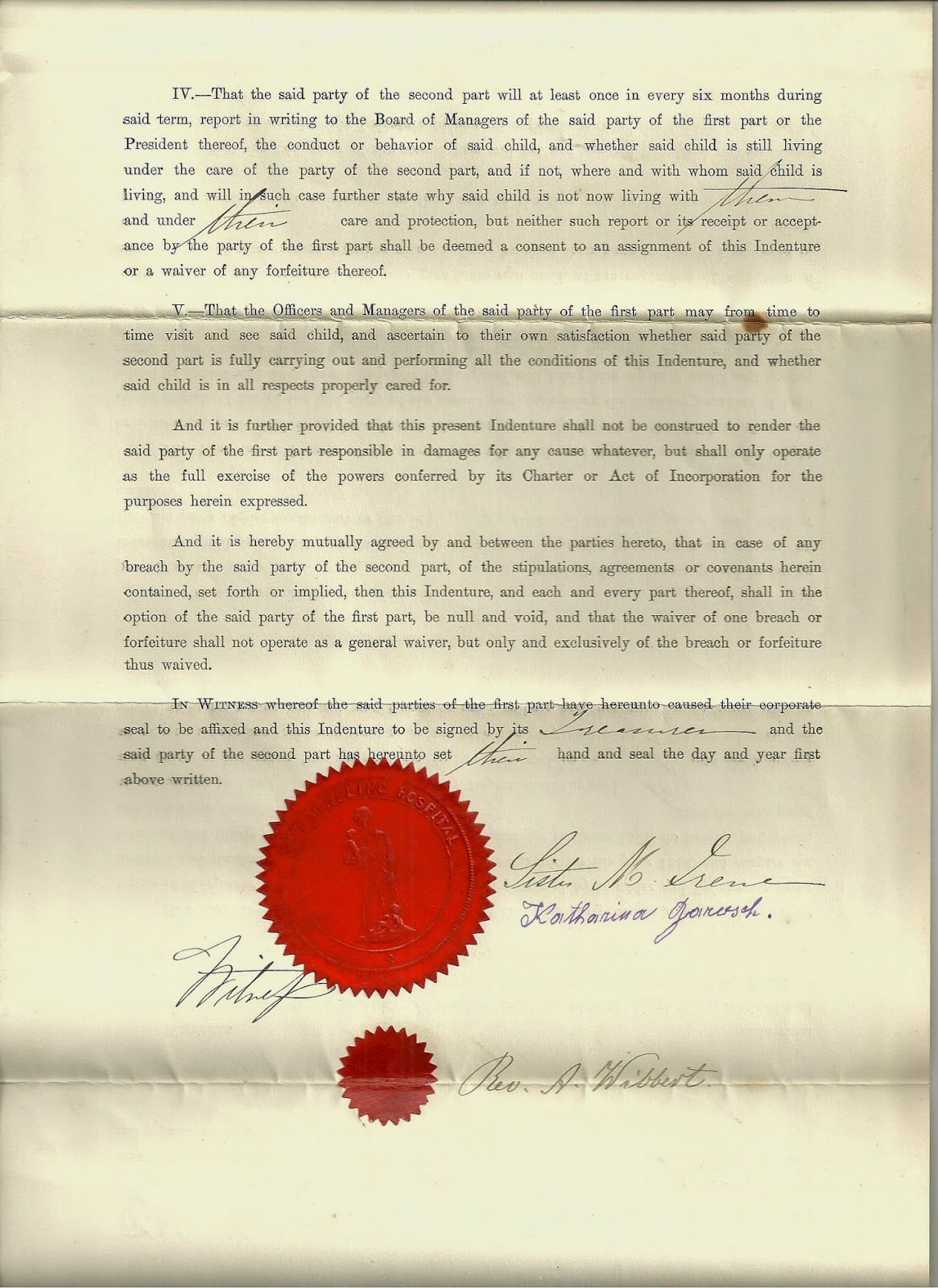 Today in the potter clans history new york foundling asylum ive been told by a few orphan train authorities that none of them have ever seen a certificate signed by her xflitez Gallery