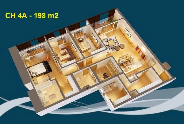 Thiết kế chi tiết căn hộ 4A - 198m2 chung cư Dolphin palza 28 trần bình