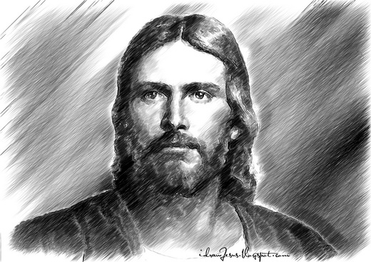 JC05 - Jesus Christ Pencil Sketch Art
