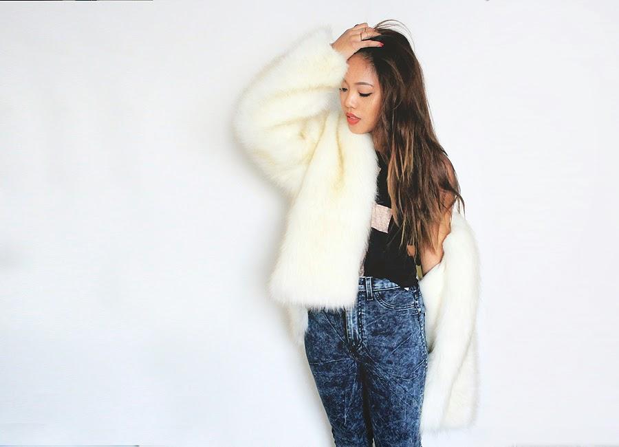 超簡単!安い!手作り毛皮コート☆好きな色のファーで自分サイズ!