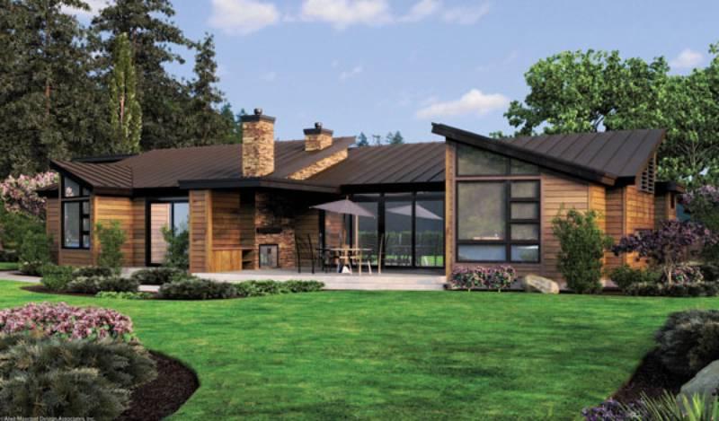 Multinotas decoraci n ventanales luz y verdor for Narrow lot modern modular homes