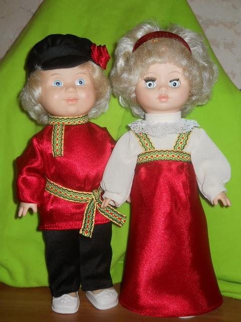 Куклы своими руками в национальных русских костюмах