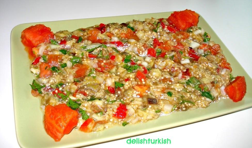 Delicious Turkish Food Recipes: Roasted Eggplant Salad ...