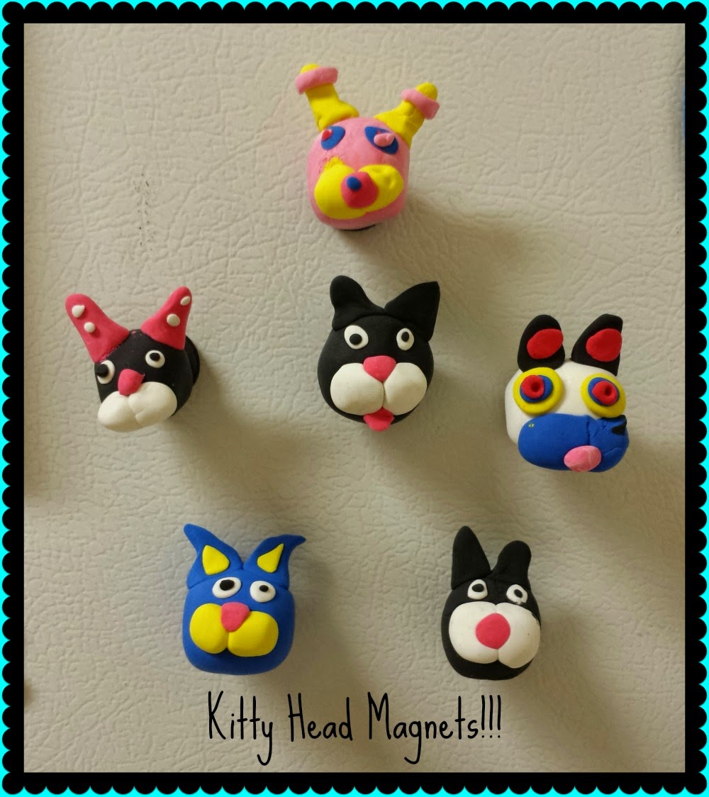 Kitty Head Magnets