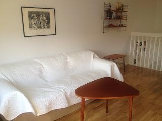 """bord lammhult möbler , litografi """"Cykelvardag"""" av BG Broström - 78 , stringhylla"""