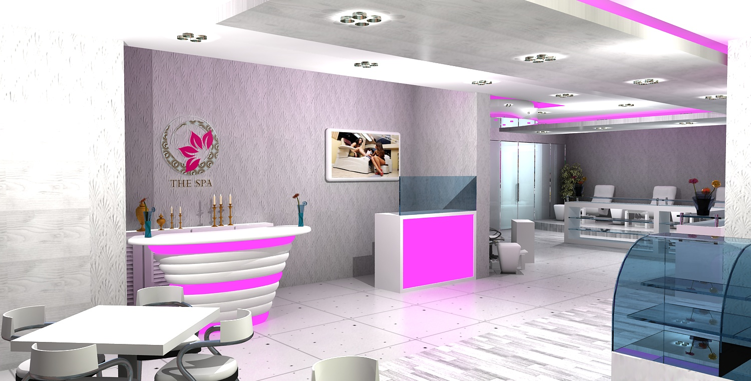 Gurooji design ladies salon spa in sharjah for Photos salon design