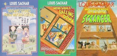 bookcovers of the 1st three Louis Sachar books in the WAYSIDE SCHOOL series
