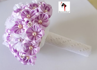 fabric bouquet, kanzashiland